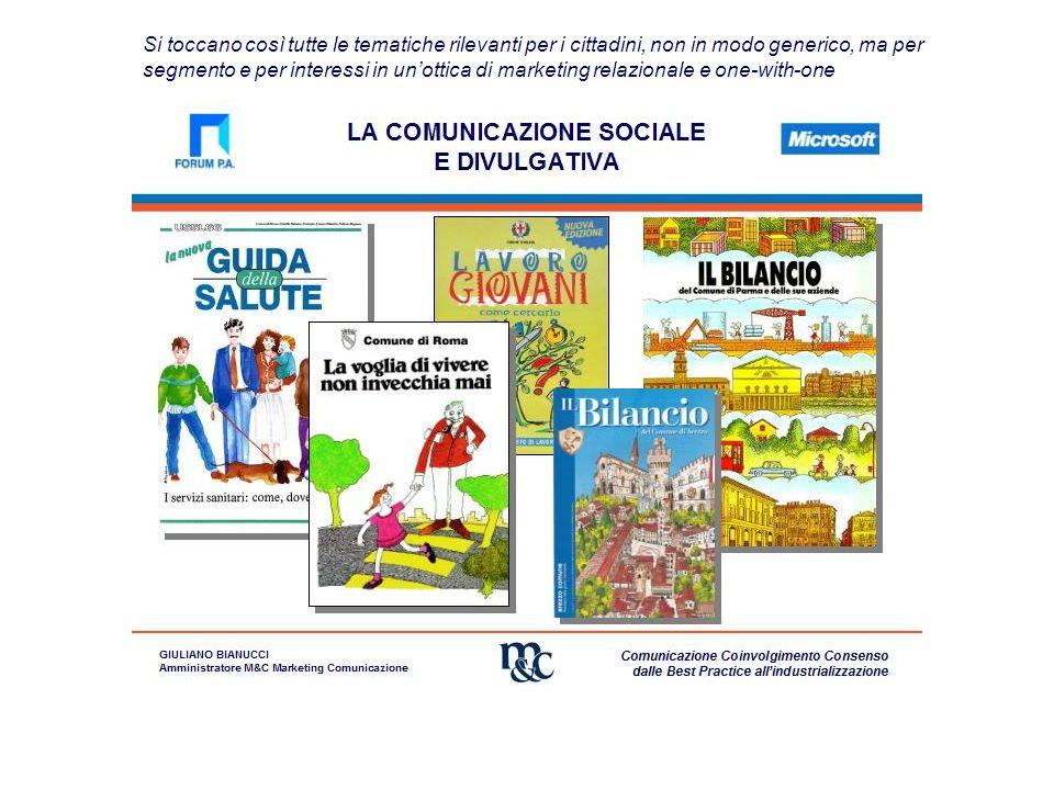 Si arriva così alla realizzazione dei Bilanci Sociali e partecipati