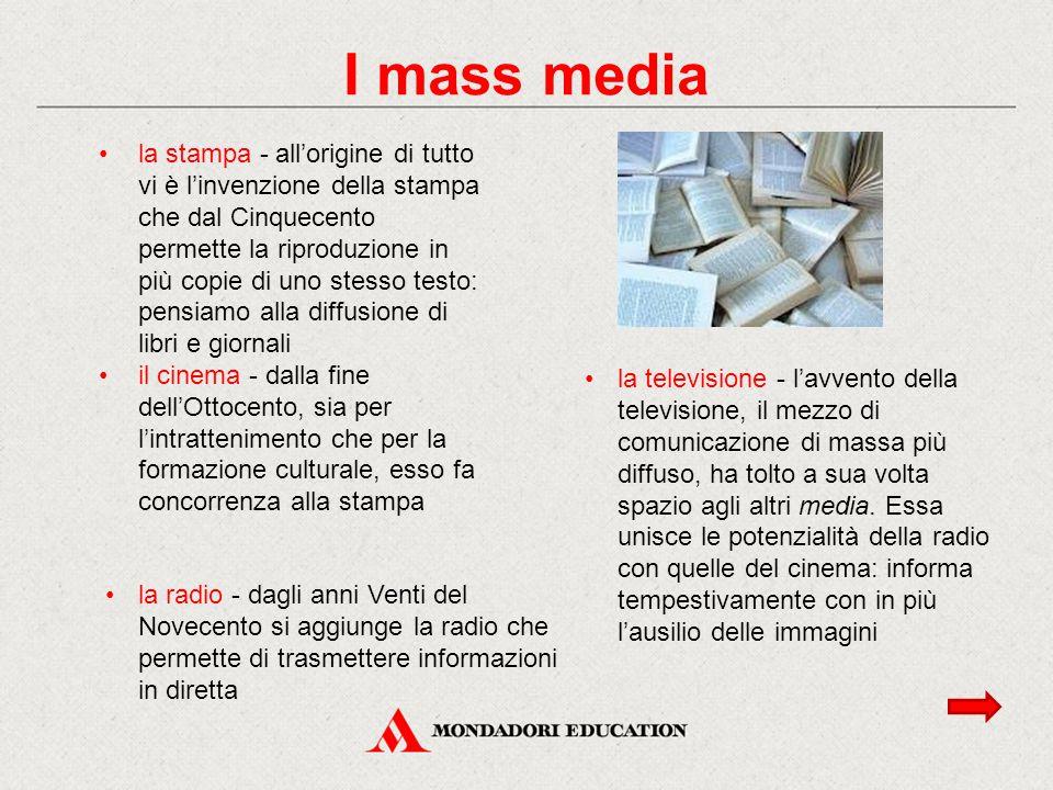 la stampa - all'origine di tutto vi è l'invenzione della stampa che dal Cinquecento permette la riproduzione in più copie di uno stesso testo: pensiam