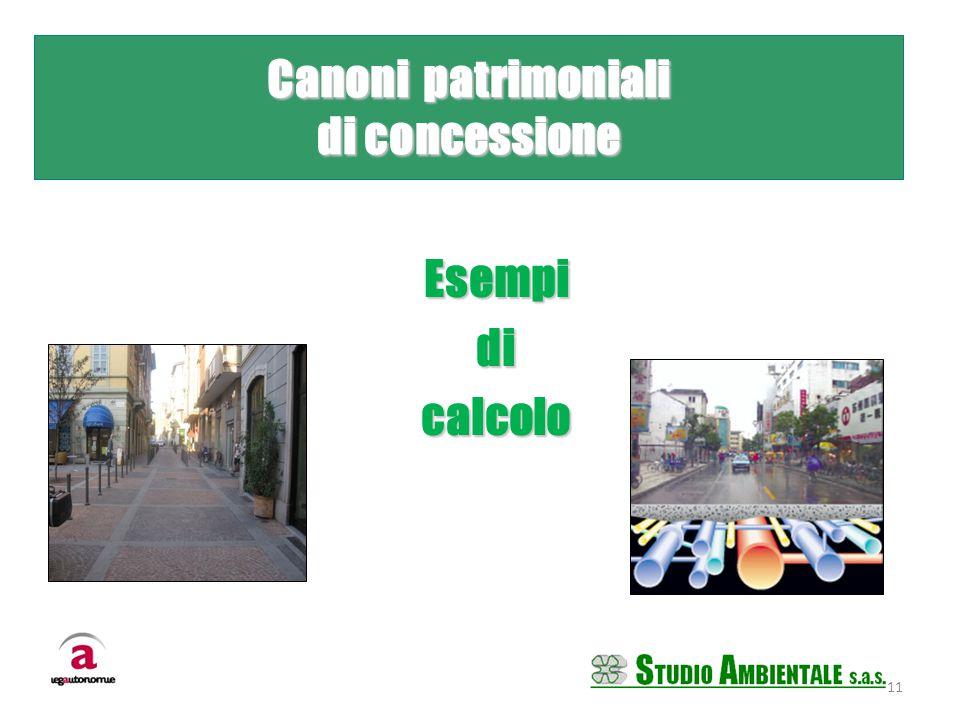 Esempidicalcolo 11 Canoni patrimoniali di concessione