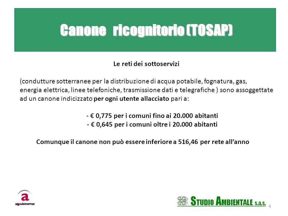 Le reti dei sottoservizi (condutture sotterranee per la distribuzione di acqua potabile, fognatura, gas, energia elettrica, linee telefoniche, trasmis