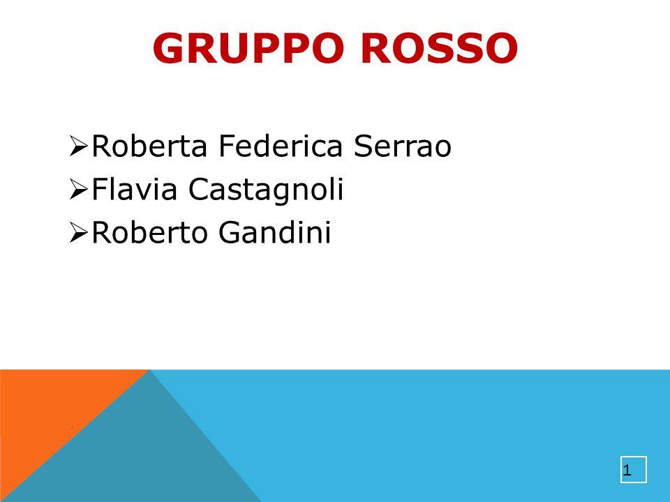 GRUPPO ROSSO  Roberta Federica Serrao  Flavia Castagnoli  Roberto Gandini 1