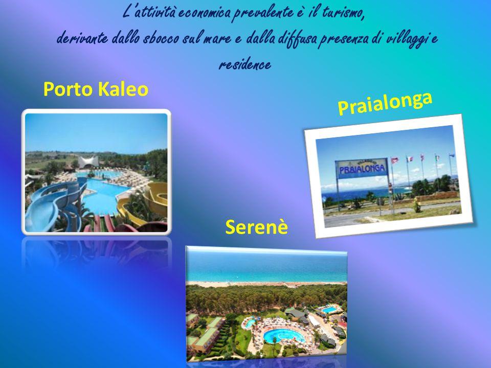 L'attività economica prevalente è il turismo, derivante dallo sbocco sul mare e dalla diffusa presenza di villaggi e residence Porto Kaleo P r a i a l