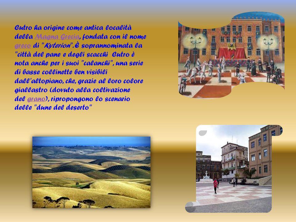Cutro ha origine come antica località della Magna Grecia, fondata con il nome greco di