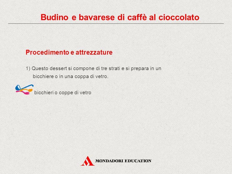 12) Decora a piacere. piatti da dessert Budino e bavarese di caffè al cioccolato