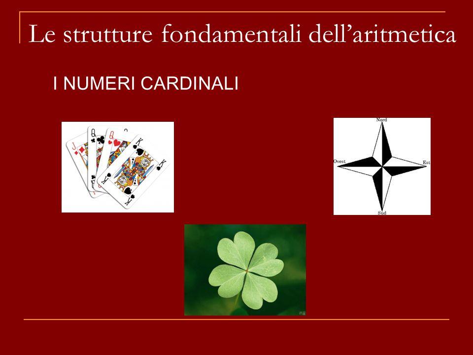 Le strutture fondamentali dell'aritmetica I NUMERI CARDINALI