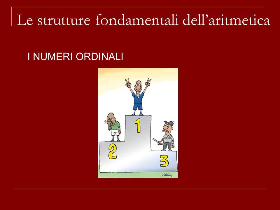 Le strutture fondamentali dell'aritmetica I NUMERI ORDINALI