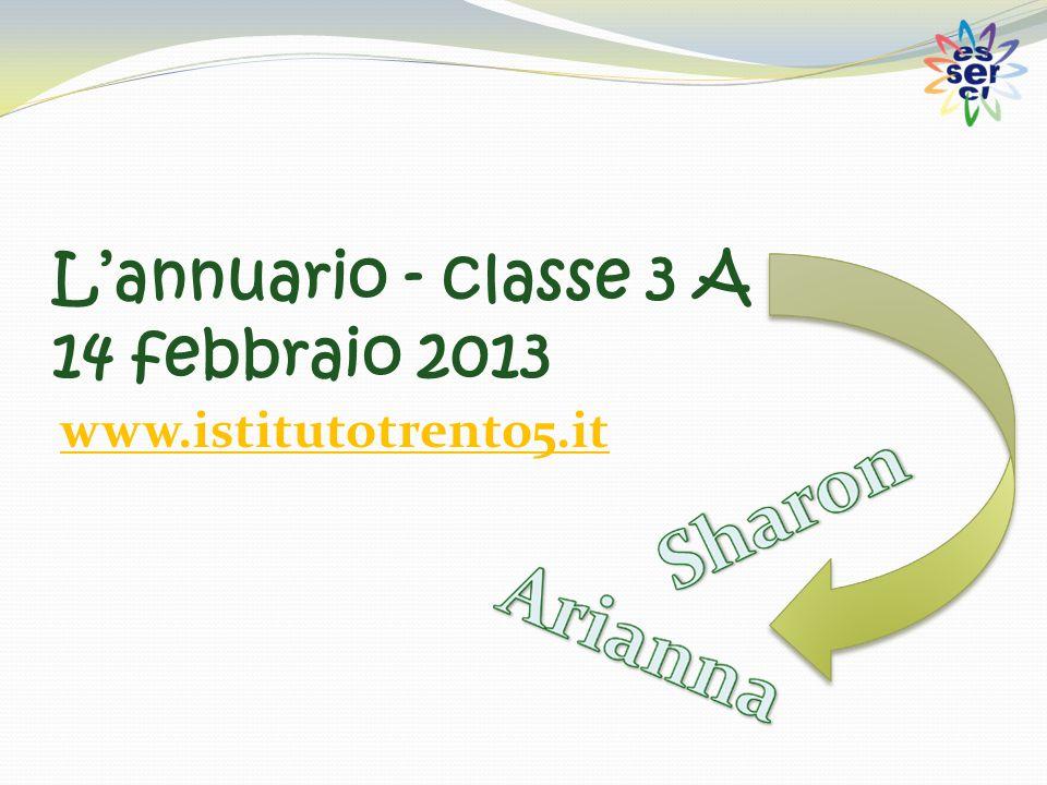 L'annuario - classe 3 A 14 febbraio 2013 www.istitutotrento5.it