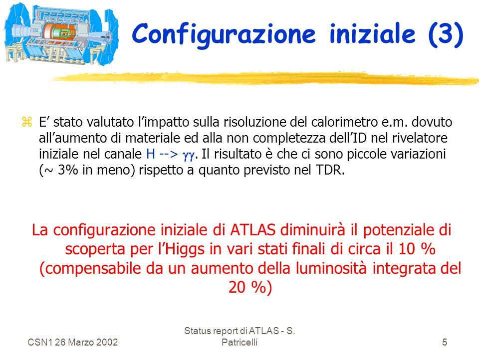 CSN1 26 Marzo 2002 Status report di ATLAS - S.Patricelli6 Ulteriori staging .