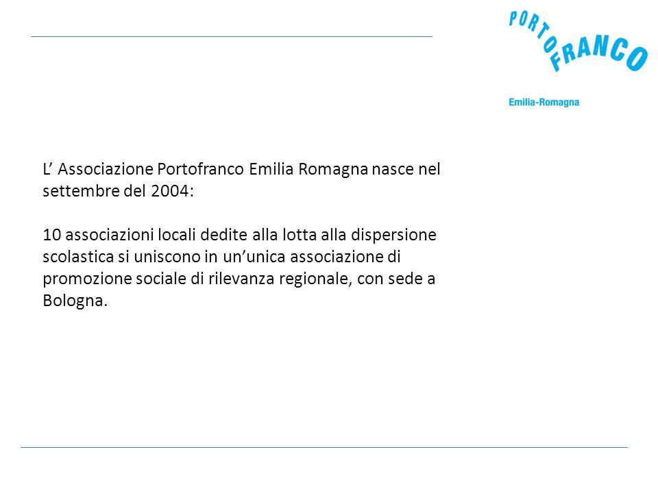 L' Associazione Portofranco Emilia Romagna nasce nel settembre del 2004: 10 associazioni locali dedite alla lotta alla dispersione scolastica si uniscono in un'unica associazione di promozione sociale di rilevanza regionale, con sede a Bologna.