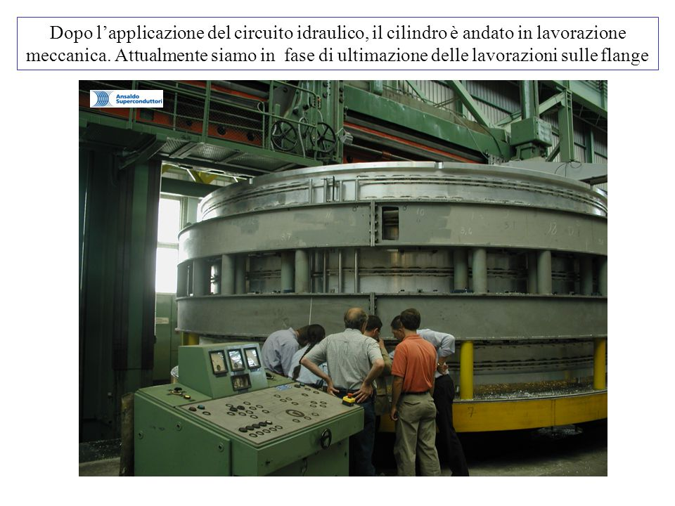 Dopo l'applicazione del circuito idraulico, il cilindro è andato in lavorazione meccanica.