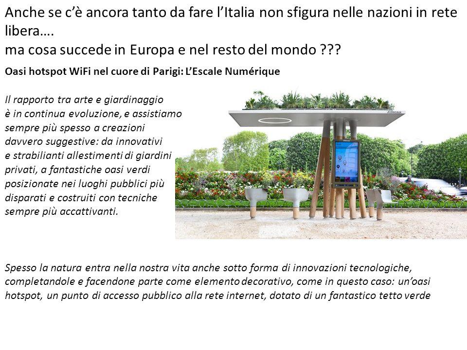 Anche se c'è ancora tanto da fare l'Italia non sfigura nelle nazioni in rete libera….