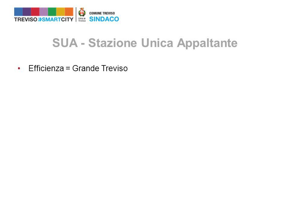 SUA - Stazione Unica Appaltante Efficienza = Grande Treviso