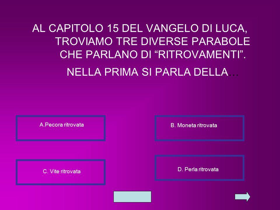"""AL CAPITOLO 15 DEL VANGELO DI LUCA, TROVIAMO TRE DIVERSE PARABOLE CHE PARLANO DI """"RITROVAMENTI"""". NELLA PRIMA SI PARLA DELLA… A.Pecora ritrovata B. Mon"""