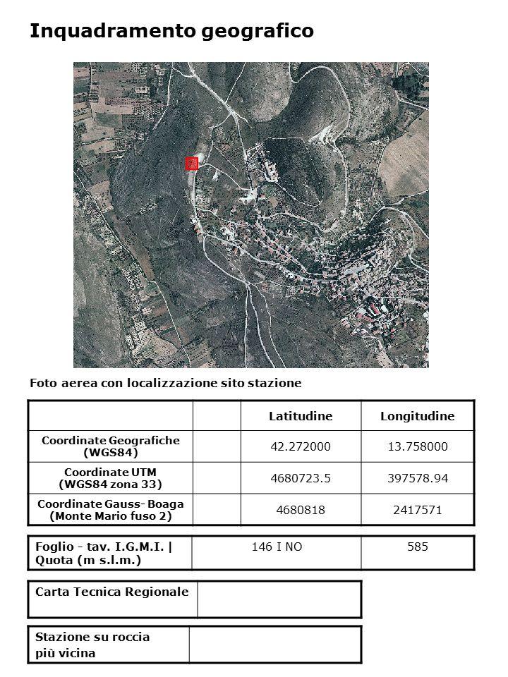 Inquadramento geologico Estratto da The Molise earthquake strong motion data set – October 31 2002 – December 30 2003