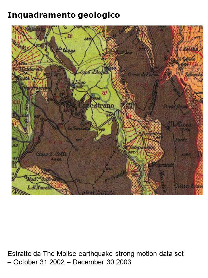Riferimenti Geologia Estratto da The Molise earthquake strong motion data set – October 31 2002 – December 30 2003