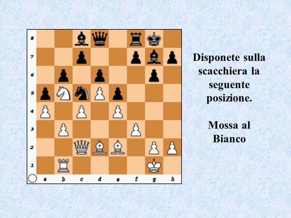 Disponete sulla scacchiera la seguente posizione. Mossa al Bianco