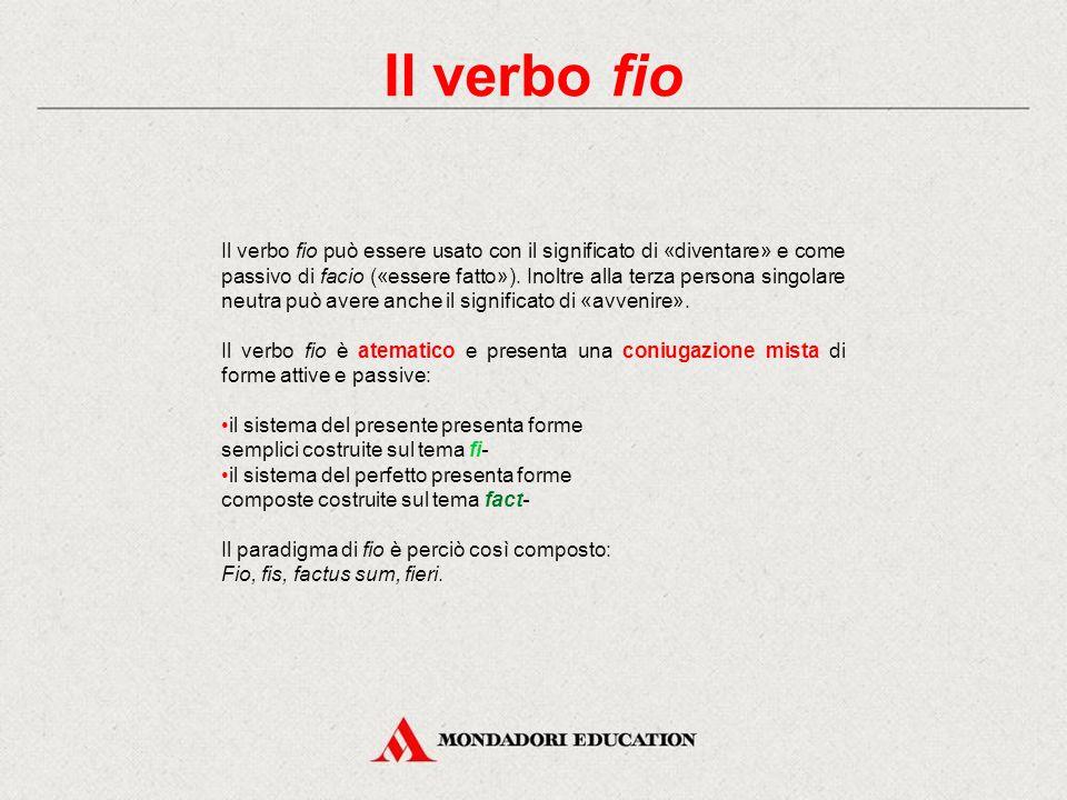 I verbi volo, nolo e malo Verifica immediata Scrivi le singole forme in corrispondenza della persona, del numero e del modo corretti, ricostruendo l'i