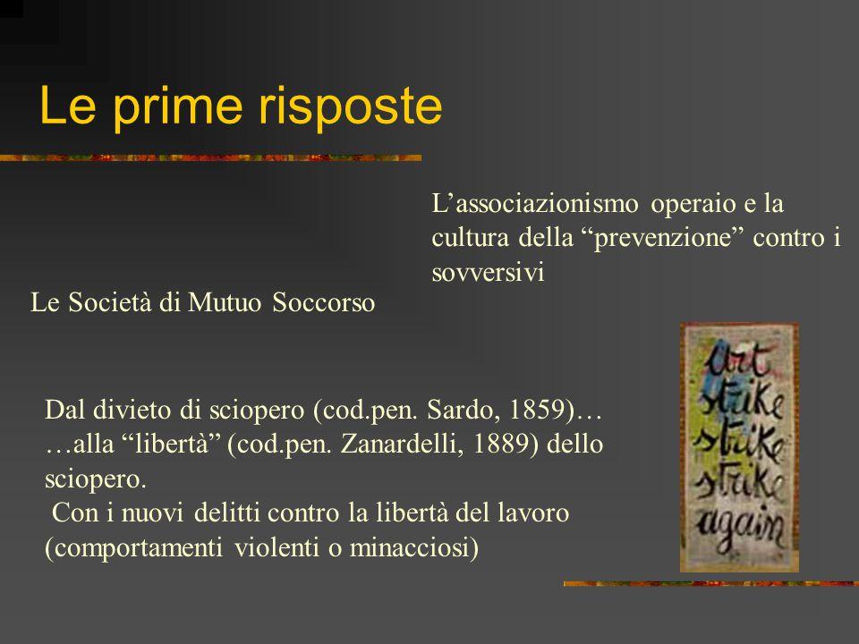 La nascita del sindacato 1891: Istituzione delle Camere del lavoro a Milano, Torino, Pavia