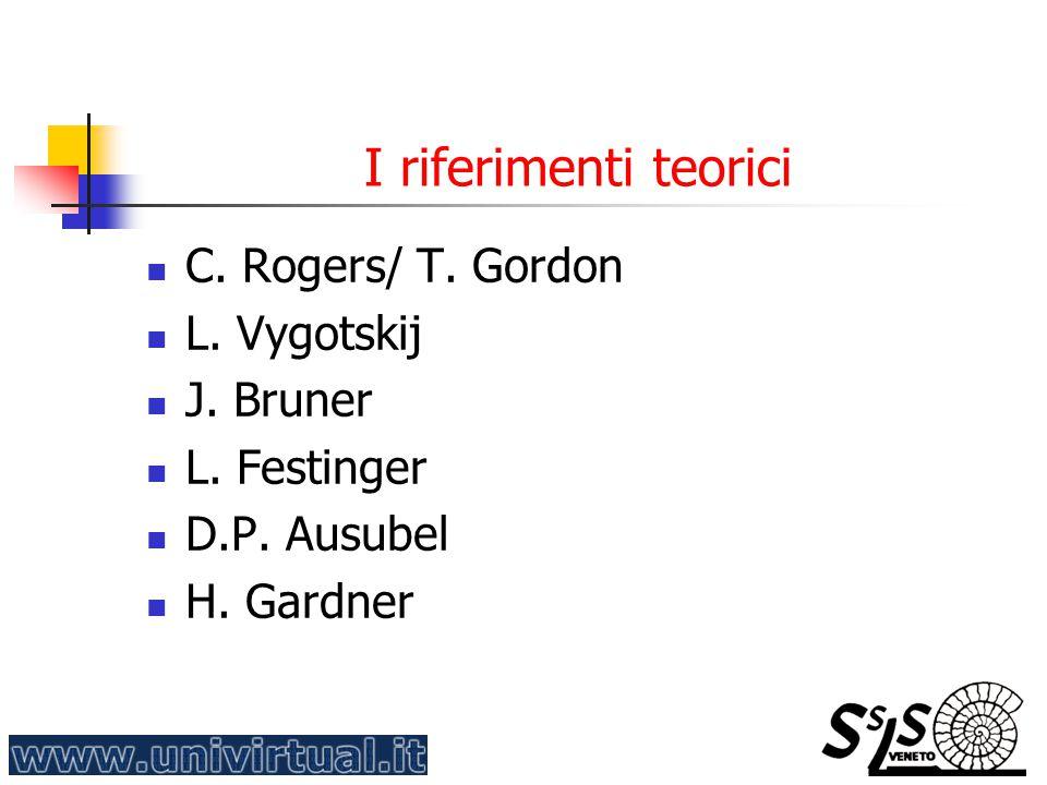 I riferimenti teorici C.Rogers/ T. Gordon L. Vygotskij J.