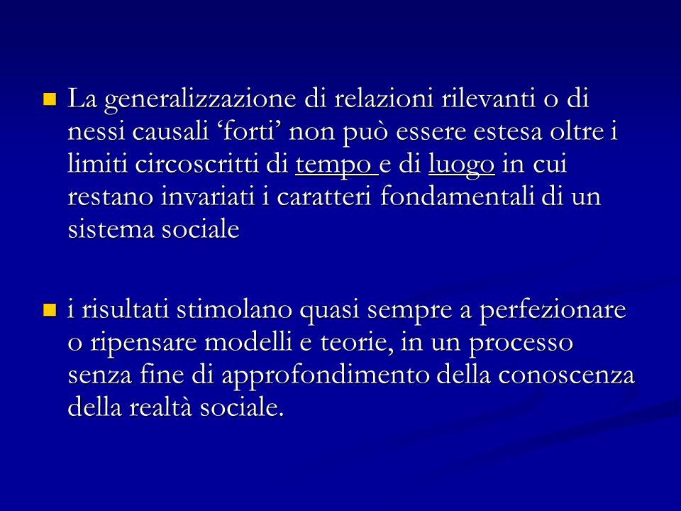 La generalizzazione di relazioni rilevanti o di nessi causali 'forti' non può essere estesa oltre i limiti circoscritti di tempo e di luogo in cui res