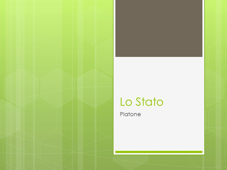 Lo Stato Platone