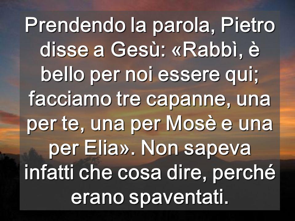In Te c'è la pienezza della LEGGE di Mosè, e del profetismo di Elia Portiamo la Legge scritta nel cuore