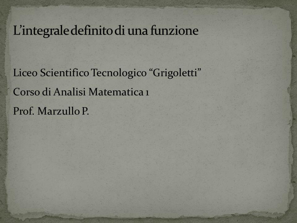Liceo Scientifico Tecnologico Grigoletti Corso di Analisi Matematica 1 Prof. Marzullo P.