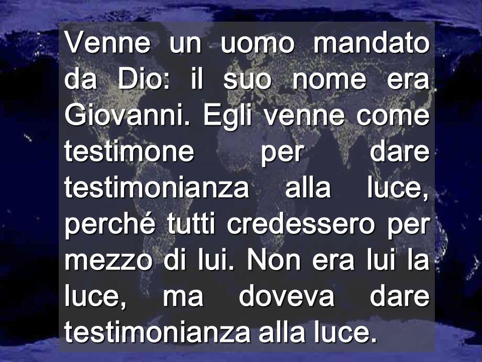 Dio è LUCE e in Lui non c'è tenebra Se camminiamo provocando la tenebra nel mondo, siamo bugiardi