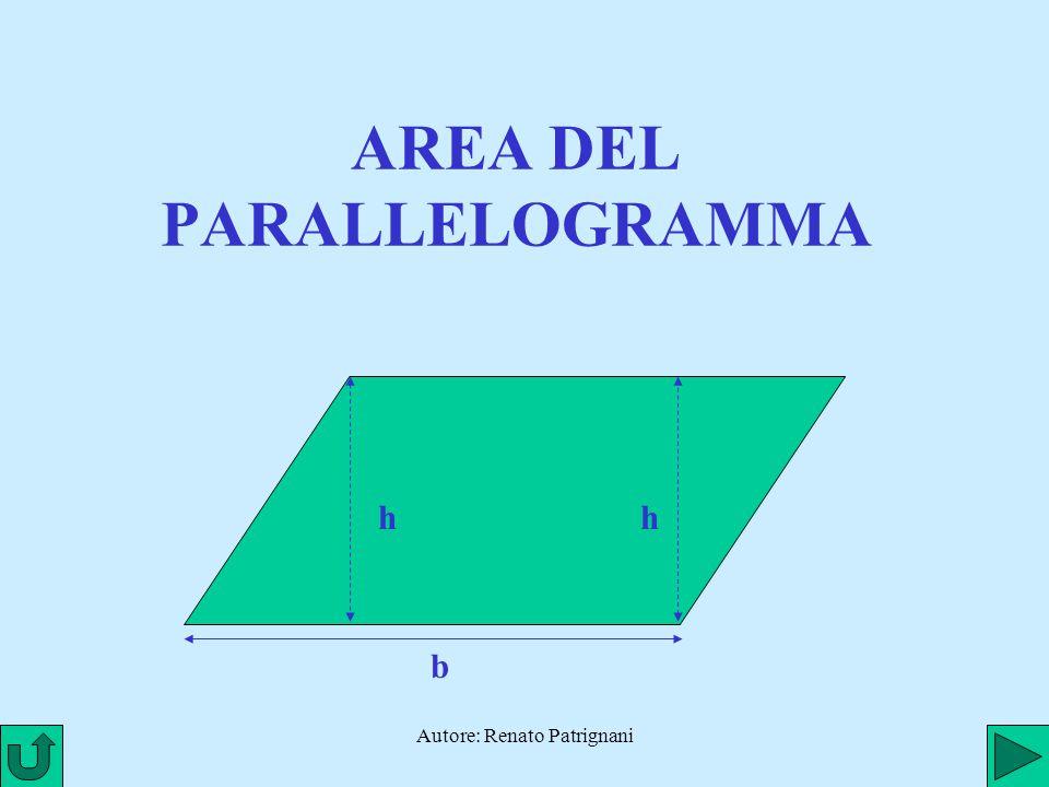 Autore: Renato Patrignani AREA DEL PARALLELOGRAMMA h b h