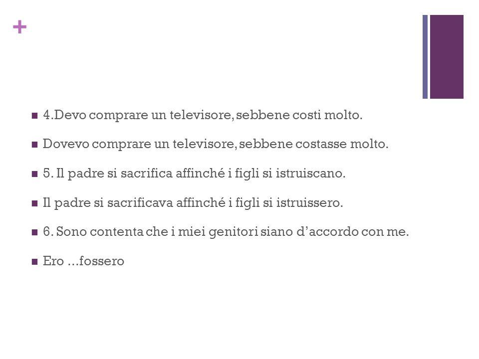 + B.Speranze Luisa sperava che 1. il suo ragazzo regalarle un CD di Andrea Bocelli.