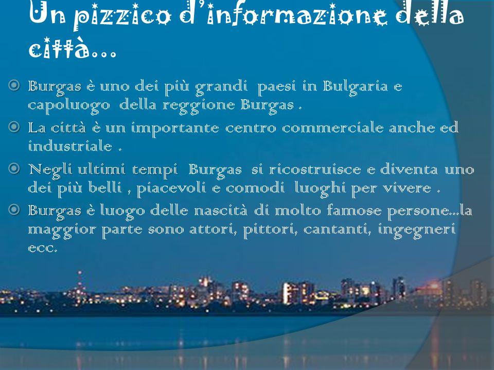 Un pizzico d'informazione della città...