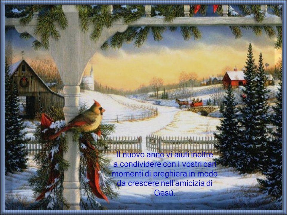 Vi auguriamo perciò che questo nuovo anno sia per voi tutti un tempo di crescita nella capacità di diffondere attorno a voi armonia e serenità.