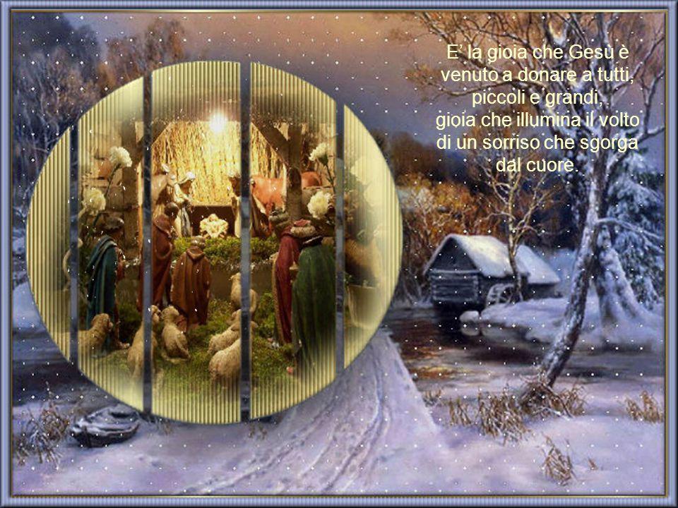 E' la gioia che Gesù è venuto a donare a tutti, piccoli e grandi, gioia che illumina il volto di un sorriso che sgorga dal cuore.
