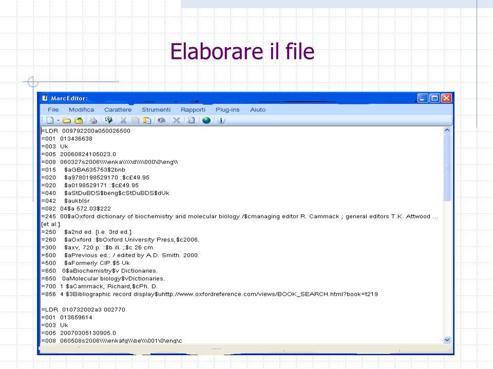 Conclusioni In generale MarcEdit viene usato per aprire i file con registrazioni in formato MARC perché così i dati posso essere letti da una persona.
