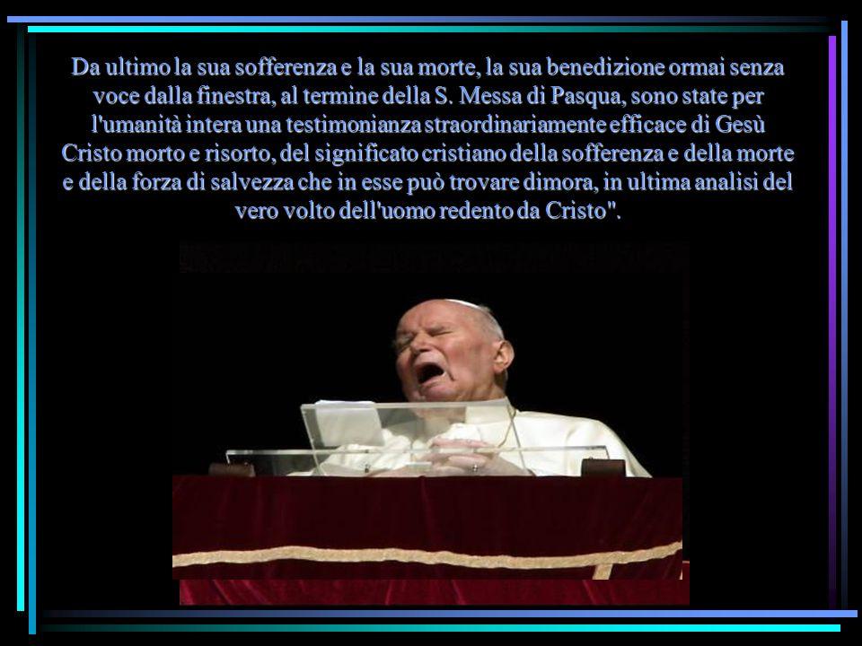 Ruini ha ricordato che nella Messa per i funerali di Papa Wojtyla l allora Cardinale Joseph Ratzinger ebbe a dire: Possiamo essere sicuri che il nostro amato Papa sta adesso alla finestra della casa del Padre, ci vede e ci benedice .