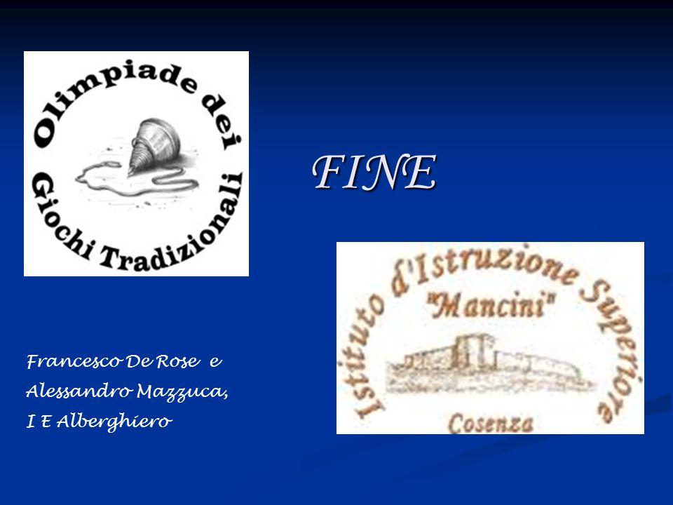 FINE Francesco De Rose e Alessandro Mazzuca, I E Alberghiero