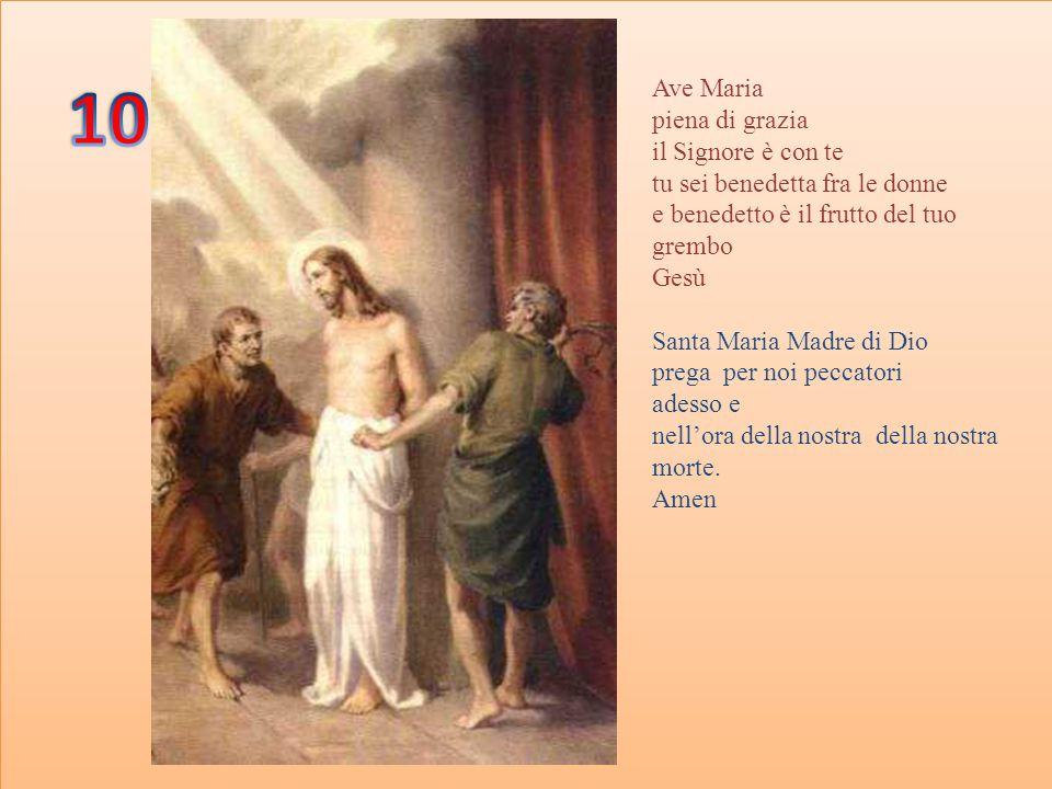 Gloria al Padre Al Figlio E allo spirito Santo Come era in principio ora e sempre, per tutti i secoli dei secoli.