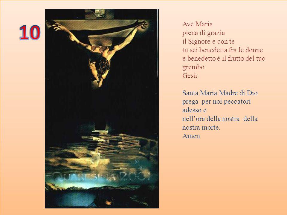 GLORIA AL PADRE AL FIGLIO E ALLO SPIRITO SANTO COME ERA IN PRINCIPIO ORA E SEMPRE PER TUTTI I SECOLI DEI SECOLI.