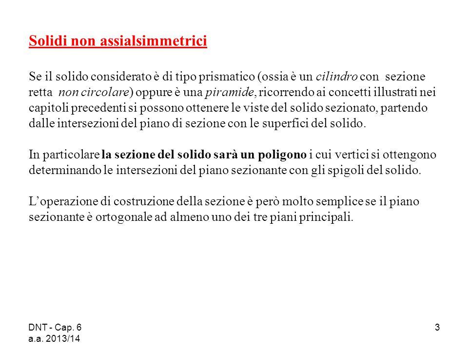 DNT - Cap. 6 a.a. 2013/14 3 Solidi non assialsimmetrici Se il solido considerato è di tipo prismatico (ossia è un cilindro con sezione retta non circo