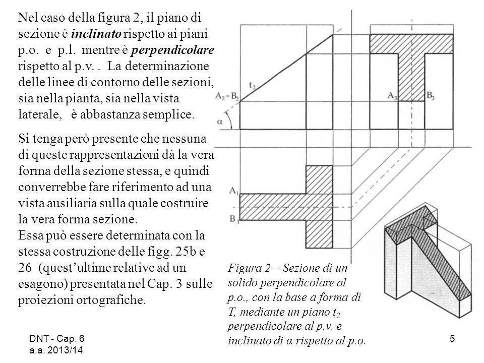 DNT - Cap. 6 a.a. 2013/14 5 Nel caso della figura 2, il piano di sezione è inclinato rispetto ai piani p.o. e p.l. mentre è perpendicolare rispetto al