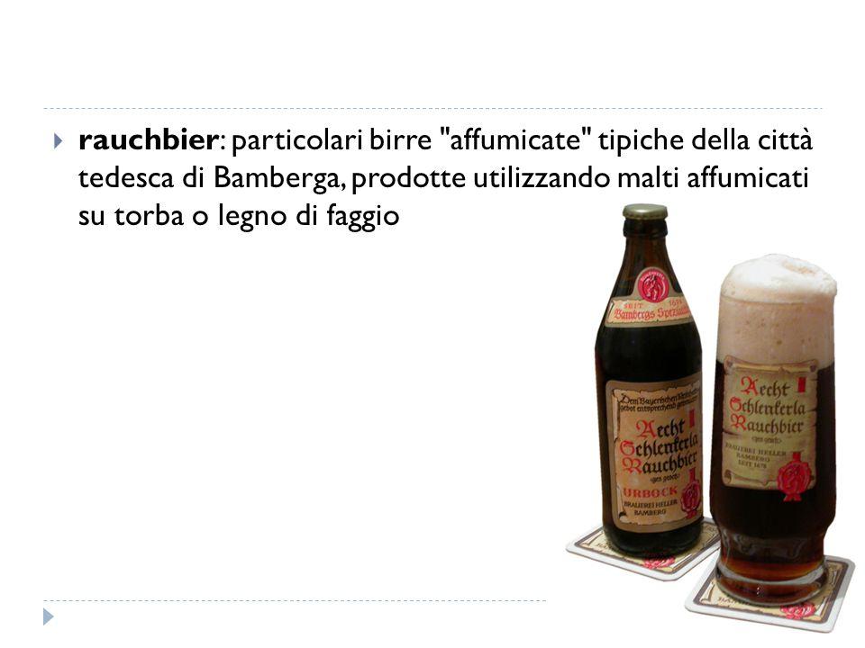  rauchbier: particolari birre