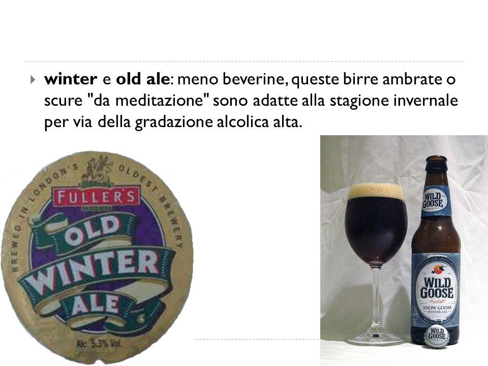  winter e old ale: meno beverine, queste birre ambrate o scure