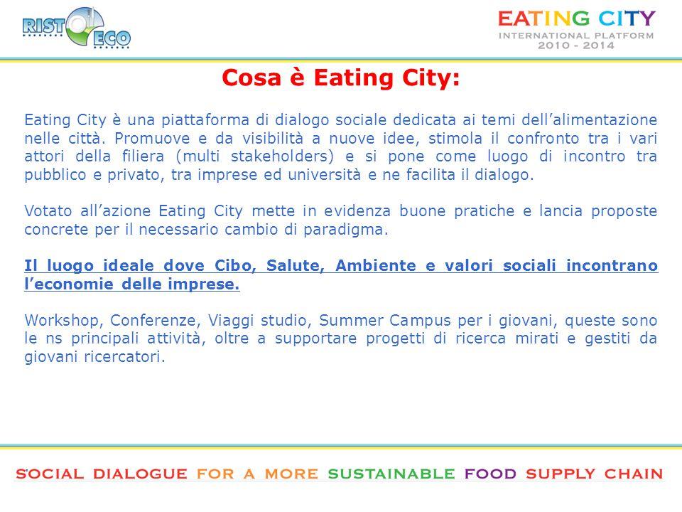 Eating City è una piattaforma di dialogo sociale dedicata ai temi dell'alimentazione nelle città.
