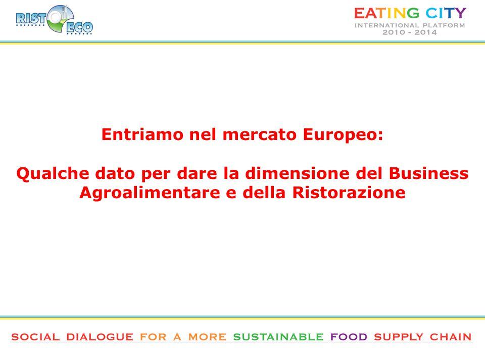 Entriamo nel mercato Europeo: Qualche dato per dare la dimensione del Business Agroalimentare e della Ristorazione