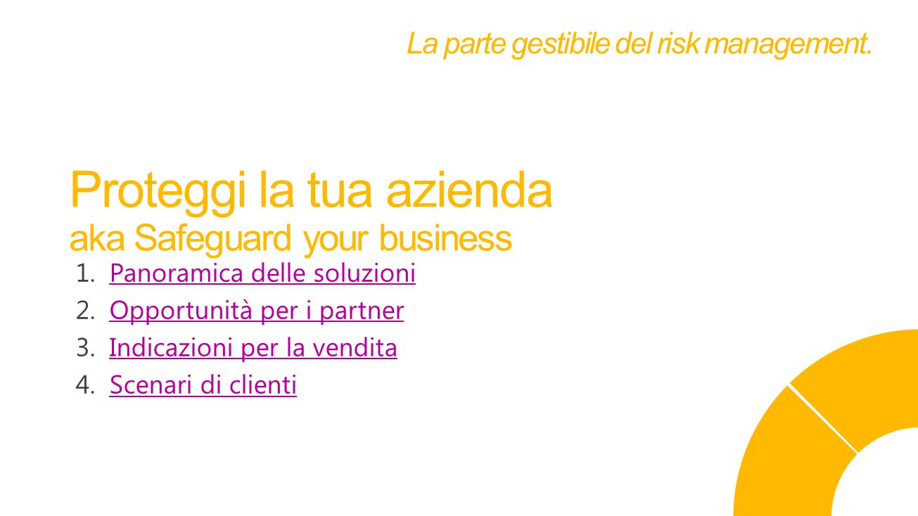 Proteggi la tua azienda aka Safeguard your business La parte gestibile del risk management.