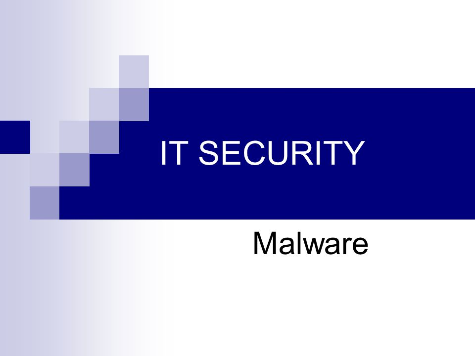 IT SECURITY Malware