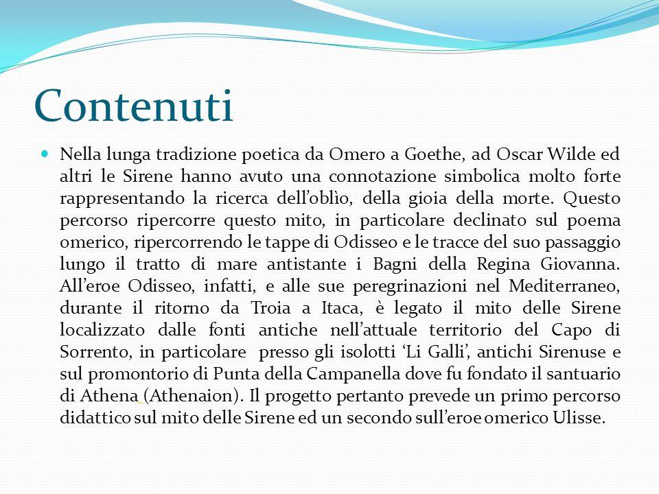 Contenuti Nella lunga tradizione poetica da Omero a Goethe, ad Oscar Wilde ed altri le Sirene hanno avuto una connotazione simbolica molto forte rappr