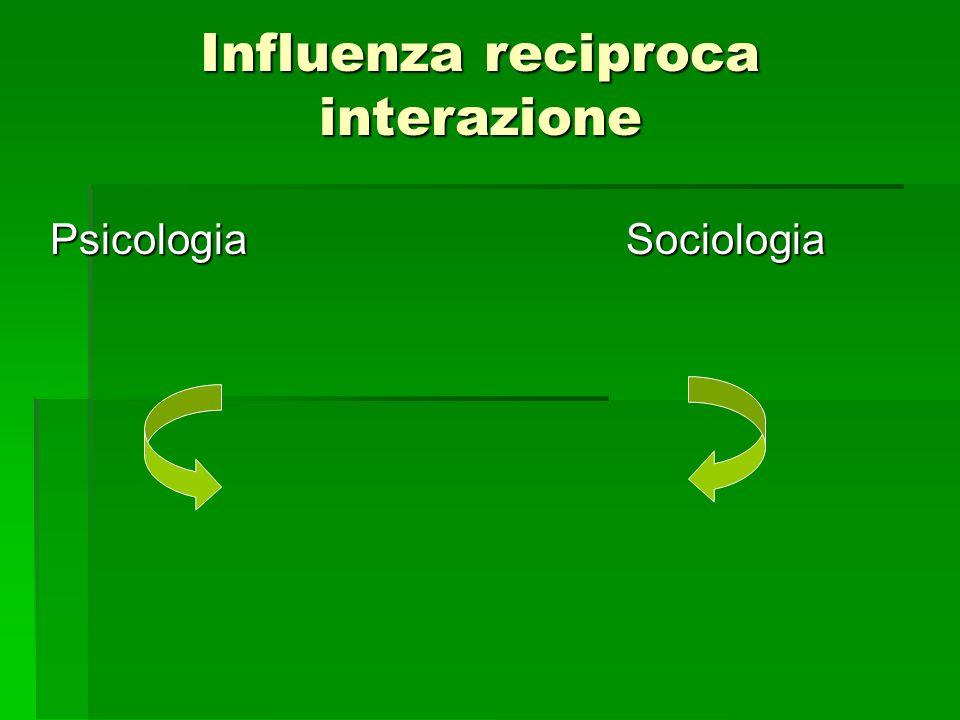 Influenza reciproca interazione PsicologiaSociologia
