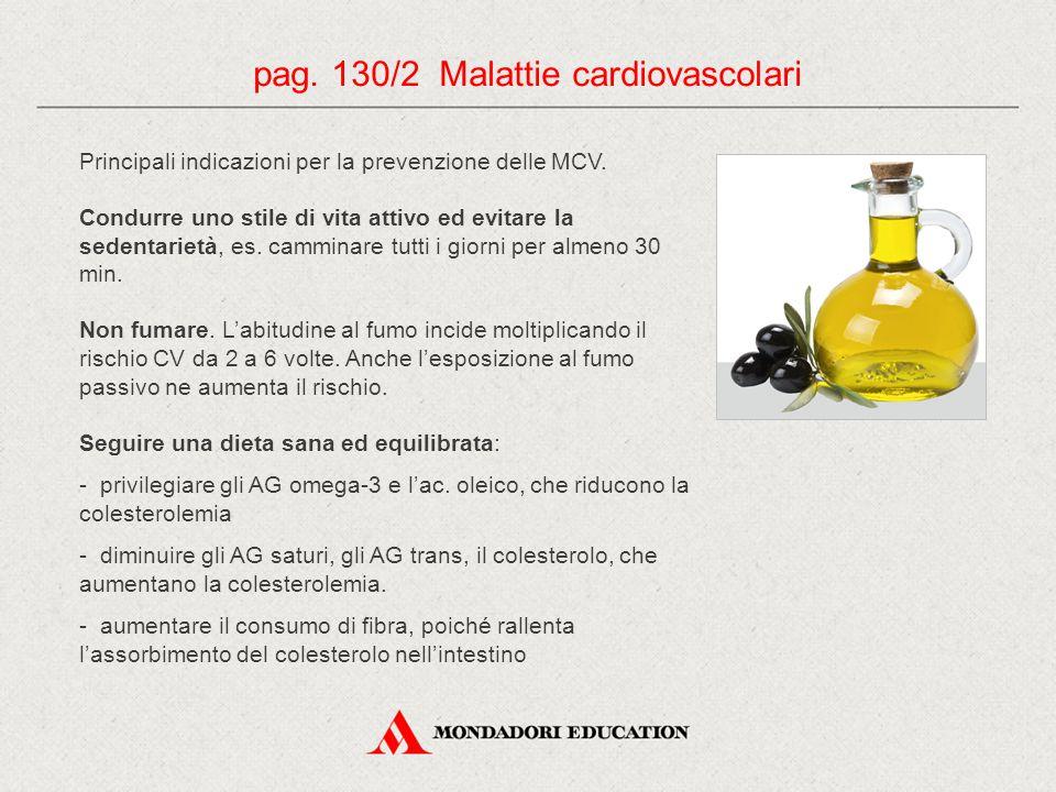 Principali indicazioni per la prevenzione delle MCV.