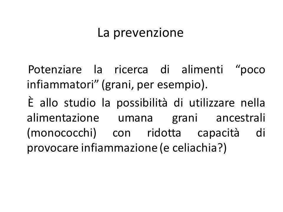 """La prevenzione Potenziare la ricerca di alimenti """"poco infiammatori"""" (grani, per esempio). È allo studio la possibilità di utilizzare nella alimentazi"""